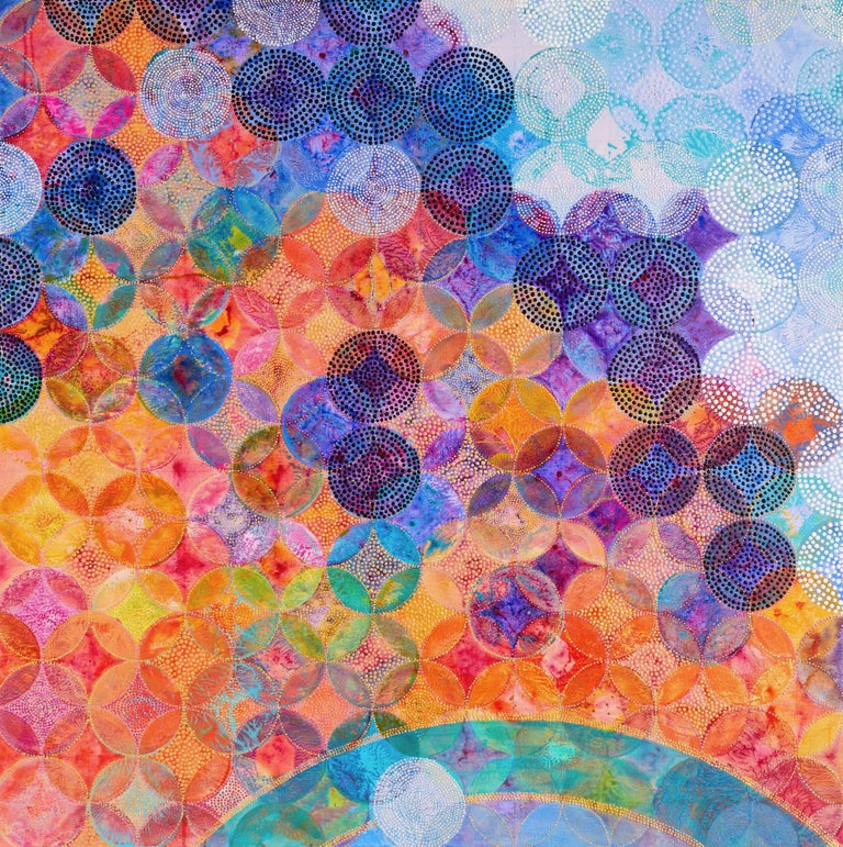 Circles 30 (Elemental) - Painting by Denise Driscoll
