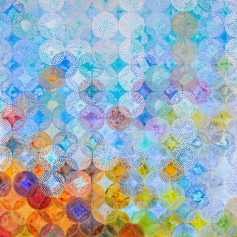 Circles 30 (Elemental) - Abstract Geometric Painting by Denise Driscoll