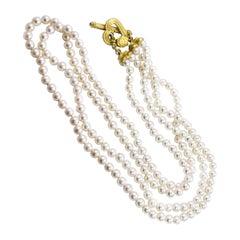 Denise Roberge 22 Karat Japanese Pearl Necklace