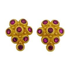 Denise Roberge Gold Ruby Earrings