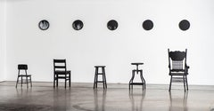 5 Clocks and Five Chairs