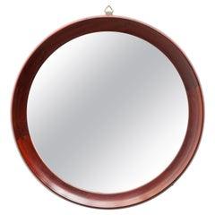 Denmark Circular Mirror in Teak