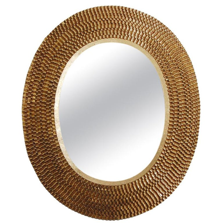 Denmark Mirror in Gold Leaf by CuratedKravet For Sale