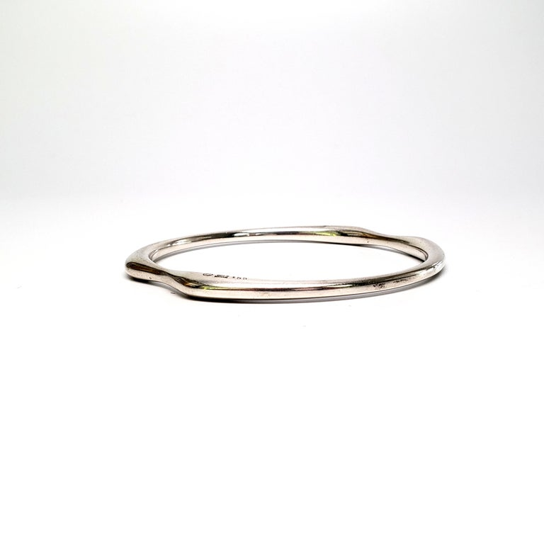 Denmark Nanna Ditzel Sterling Silver Bangle #155 In Good Condition For Sale In New Milford, CT