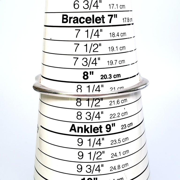 Denmark Nanna Ditzel Sterling Silver Bangle #155 For Sale 1