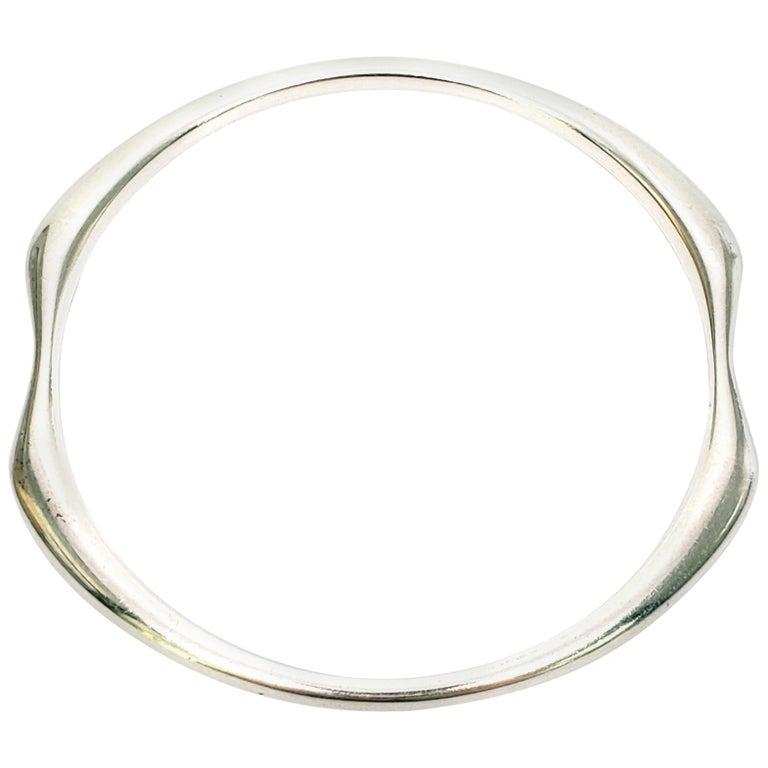 Denmark Nanna Ditzel Sterling Silver Bangle #155 For Sale