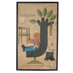 Denmark Wegner Furniture Poster by Antoni