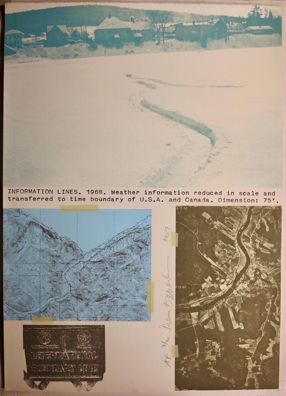 Information Lines (conceptual environmentalist Land Art lithograph)