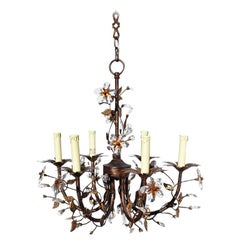 Dennis and Leen Custom Floral Detail Chandelier with Crystal