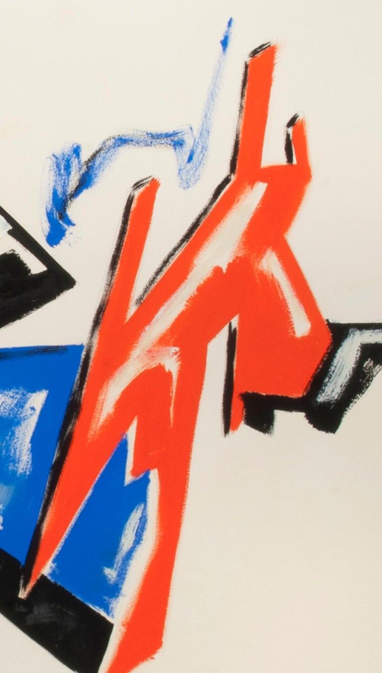 Untitled (Abstraction) Mixed media on paper, 1980 Signed and dated 1980 lower right (see photo) Condition: Excellent, unframed Sheet size: 31 1/2 x 47 1/2 inches Provenance: Jan Cowles, noted collector and art dealer  Dennis John Ashbaugh (born 1946