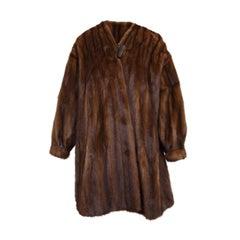Dennis Basso Brown Mink 3/4 Swing Coat