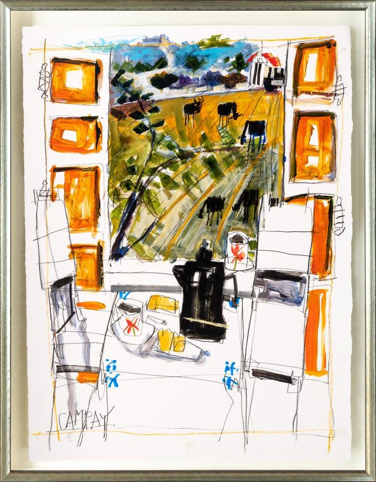 Dennis Campay Landscape Painting - Shutters