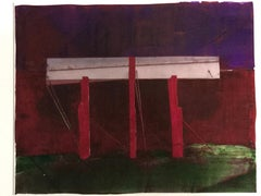 Untitled (Red Columns)