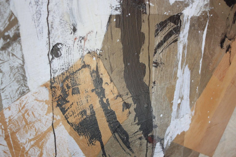 Paint Dennis Frings 'Timbrel Series V' Large Mixed-Media on Board For Sale