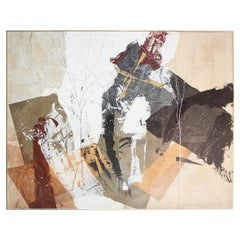 Dennis Frings 'Timbrel Series V' Large Mixed-Media on Board