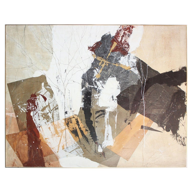 Dennis Frings 'Timbrel Series V' Large Mixed-Media on Board For Sale
