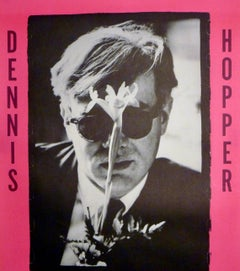 Dennis Hopper Out of the Sixties exhibit poster (Hopper Andy Warhol with flower)
