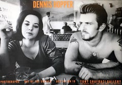 Dennis Hopper Out of the Sixties exhibit poster (Dennis Hopper Biker Couple)