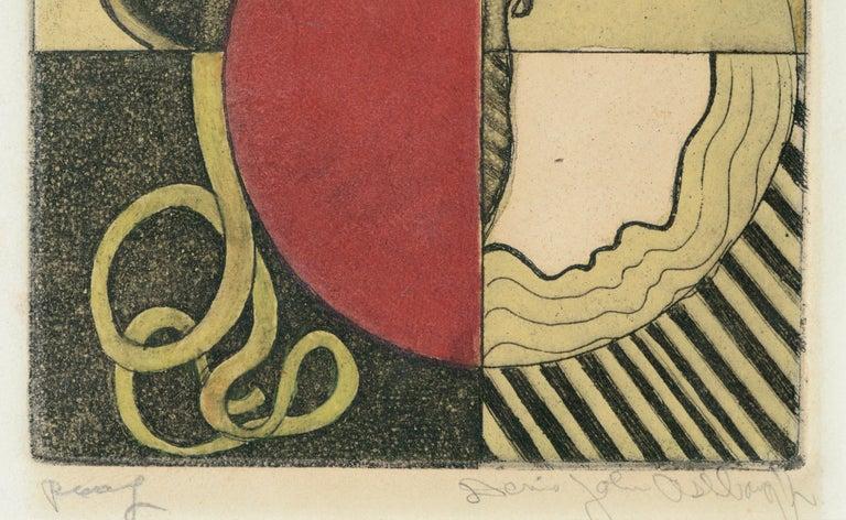Bold lithograph by Dennis john Ashbaugh (American, b. 1946).