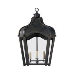 Dennis & Leen Large Oversize Iron and Glass Navarre Lantern Light Fixture