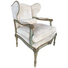 Dennis & Leen Parcel Gilt Wingback Armchair with Painted Frame & Down Cushion