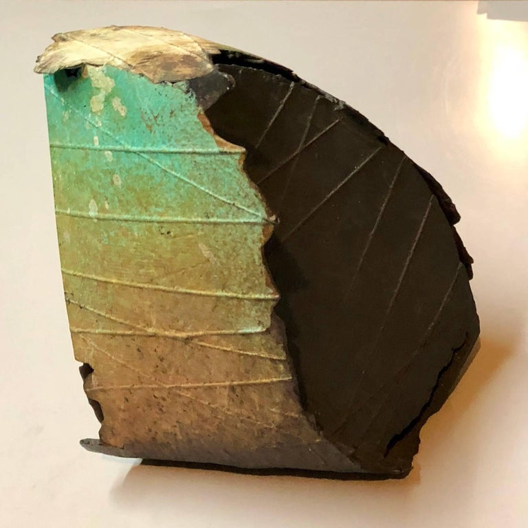 Abstract Patinated Bronze Sculpture San Francisco Artist For Sale 2