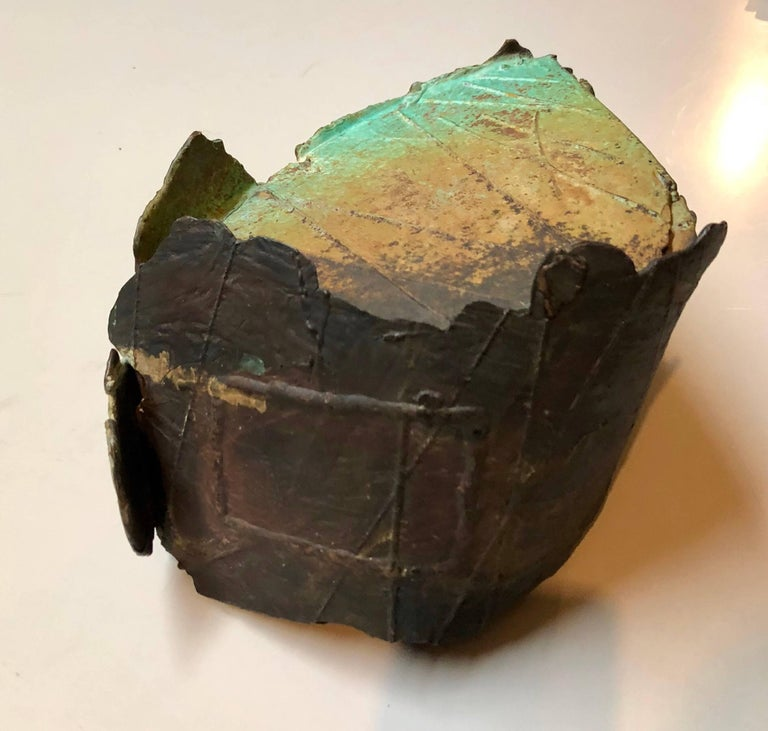 Abstract Patinated Bronze Sculpture San Francisco Artist For Sale 3