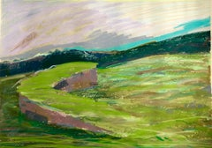 Large Abstract Landscape Pastel Drawing Painting San Francisco Artist, Megan #10