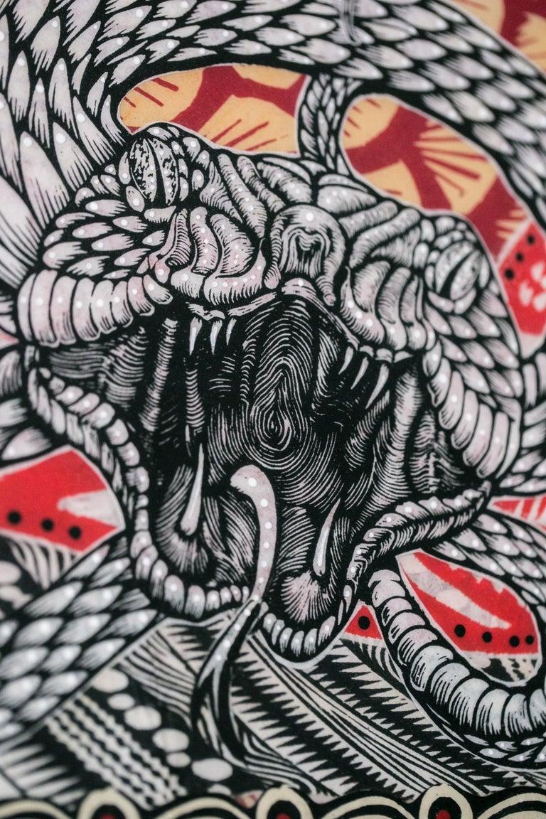 Midgard Serpent - Brown Animal Print by Dennis McNett
