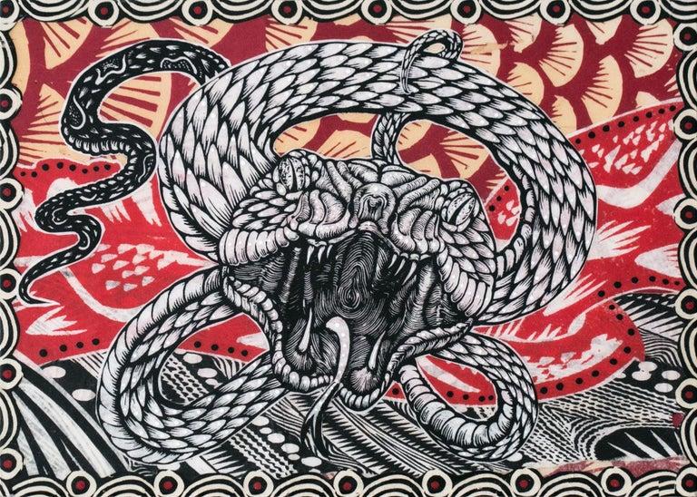 Dennis McNett Animal Print - Midgard Serpent