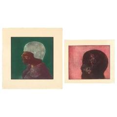 Dennis Olsen Colored Etchings, 1970s