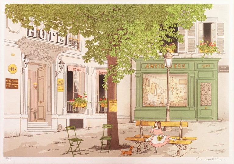 Hotel Paradis, Paris - Print by Denis Paul Noyer
