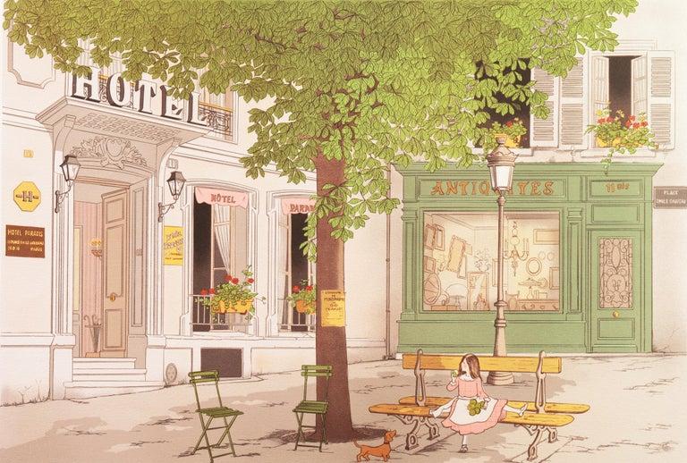 Denis Paul Noyer Landscape Print - Hotel Paradis, Paris