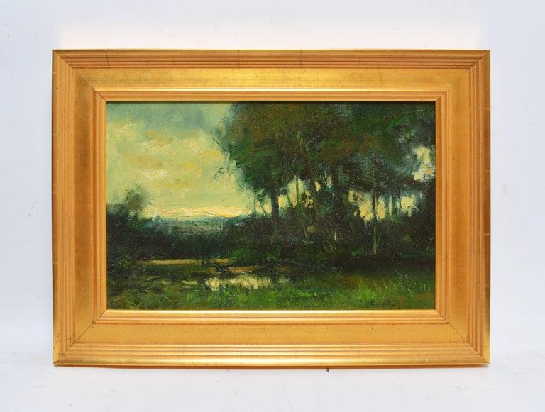Tonalist Sunset Landscape by Dennis Sheehan For Sale 1