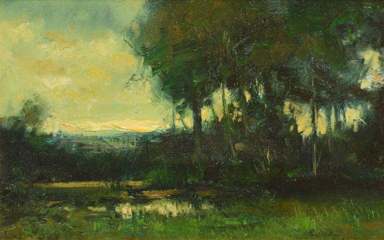 Tonalist Sunset Landscape by Dennis Sheehan For Sale 2