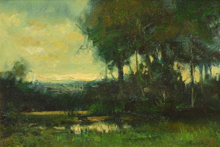 Tonalist Sunset Landscape by Dennis Sheehan For Sale 3