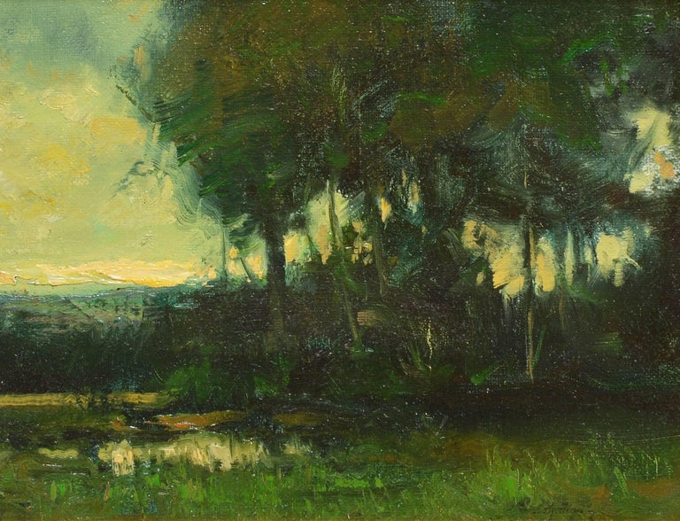 Tonalist Sunset Landscape by Dennis Sheehan For Sale 4
