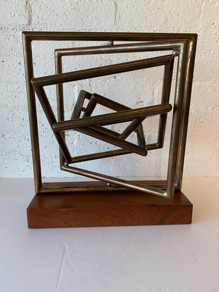 American Dennis Stewart Copper Kinetic Sculpture For Sale