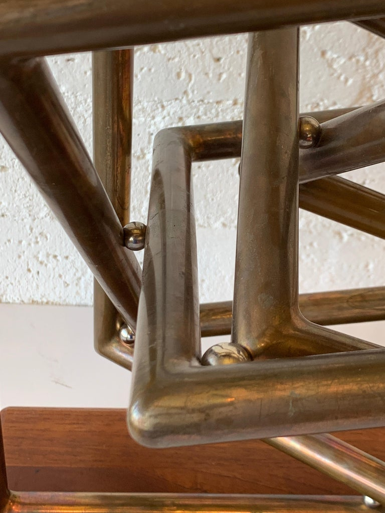 Dennis Stewart Copper Kinetic Sculpture In Good Condition For Sale In Palm Springs, CA