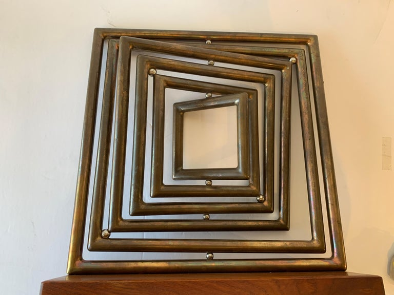 Dennis Stewart Copper Kinetic Sculpture For Sale 2