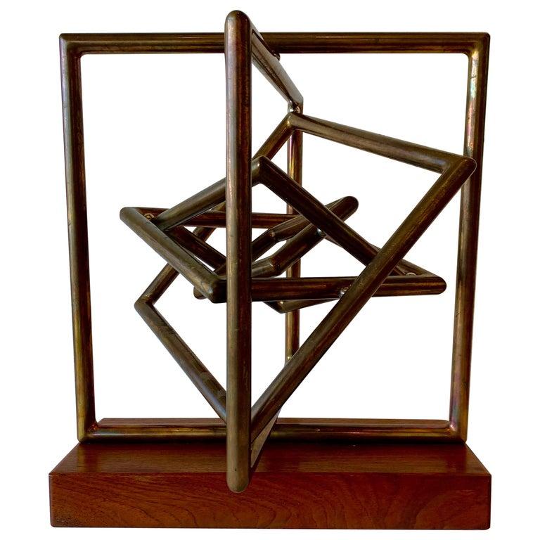 Dennis Stewart Copper Kinetic Sculpture For Sale