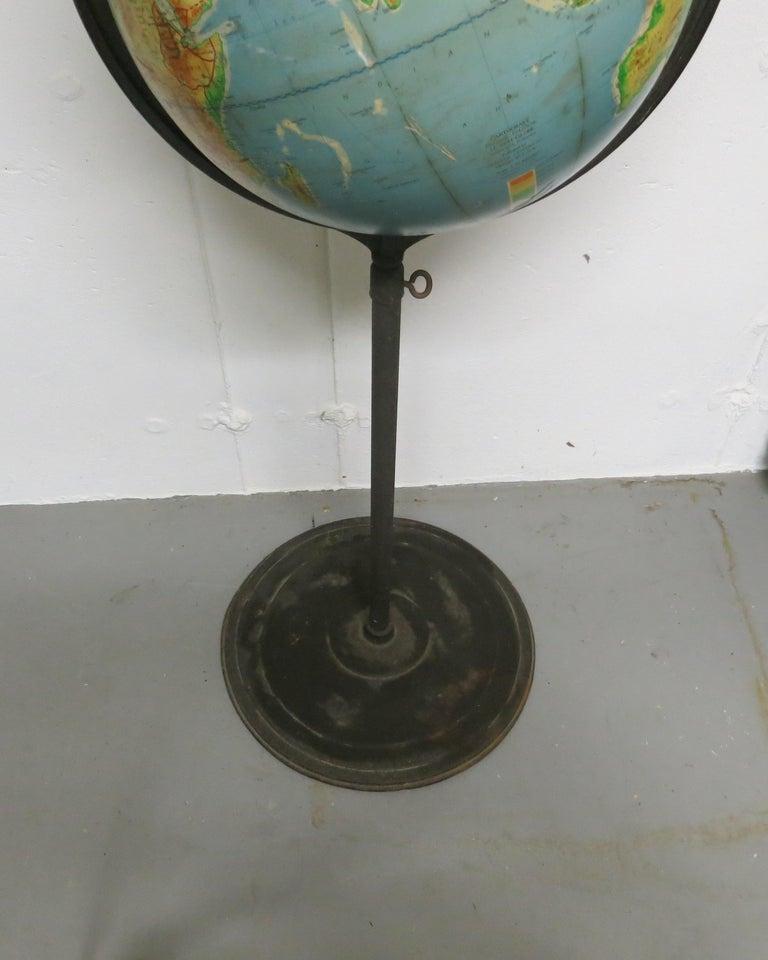 Mid-Century Modern Denoyer-Geppert Floor Globe Midcentury For Sale