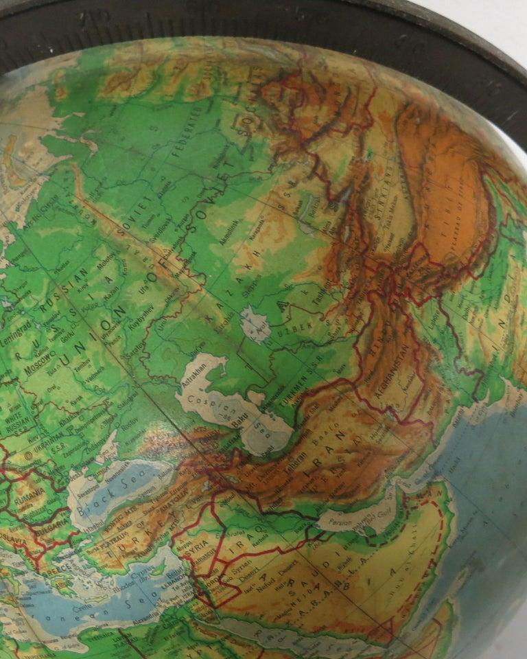 Denoyer-Geppert Floor Globe Midcentury For Sale 1