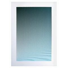 Density Ripple Screen Print 'Green Blue'