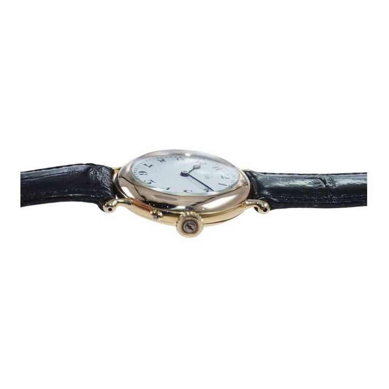 Women's or Men's Dent London 18kt. Gold Wrist Watch Made by Legendary Chronometer Maker from 1926 For Sale