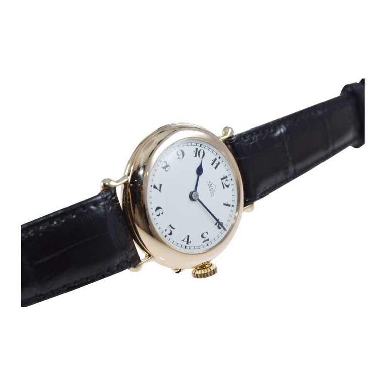 Dent London 18kt. Gold Wrist Watch Made by Legendary Chronometer Maker from 1926 For Sale 1