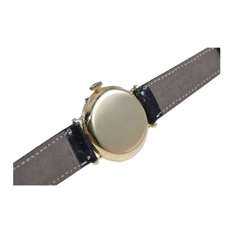 Dent London 18kt. Gold Wrist Watch Made by Legendary Chronometer Maker from 1926 For Sale 3