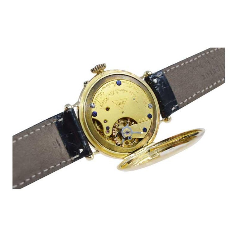 Dent London 18kt. Gold Wrist Watch Made by Legendary Chronometer Maker from 1926 For Sale 4