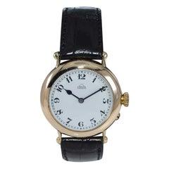 Dent London 18kt. Gold Wrist Watch Made by Legendary Chronometer Maker from 1926