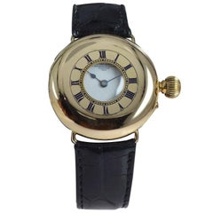 Dent Maker to the Queen English 18 Karat Gold Early Wristwatch circa 1870s-1880s